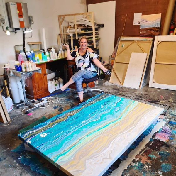 Chloe Wigg in her studio